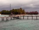 Blick vom Steg auf die Insel