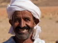 A nomade who lives with his family in the desert