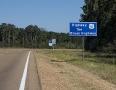 Der Highway 61 fuehrt durch Louisiana und Mississippi